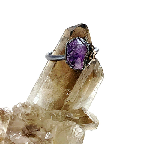 Custom Listing for Blake - Amethyst Spiderweb Ring