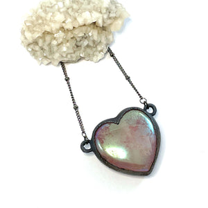 Aura Rose Quartz Heart Necklace