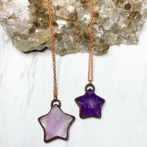 Amethyst Star Necklace | February Birthstone