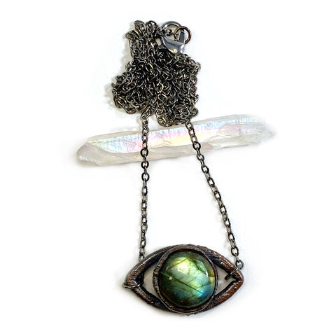 Labradorite Eye Necklace