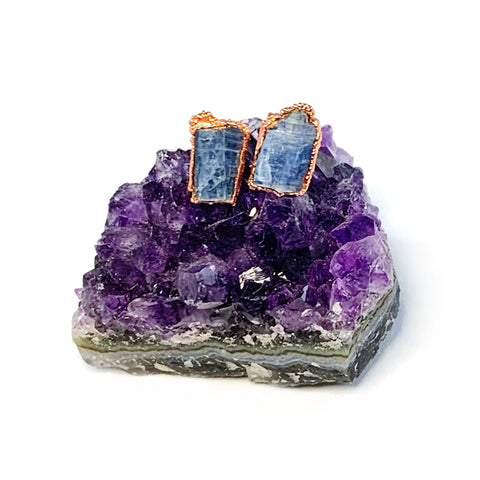 Blue Kyanite Blade Stud Earrings