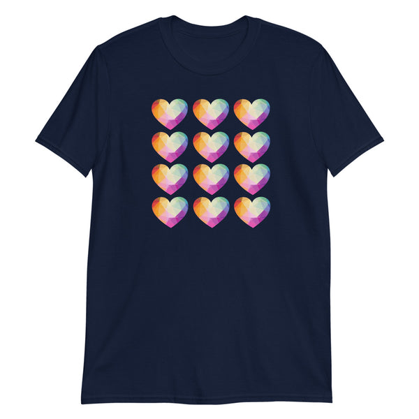 Heart Crystal Short-Sleeve Unisex T-Shirt