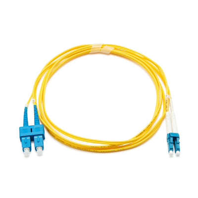 Fibre Optic Singlemode OS2 LC-SC PVC Patch Cable - 10M