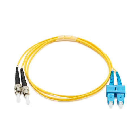 Fibre Optic Singlemode OS2 SC-ST PVC Patch Cable - 1M