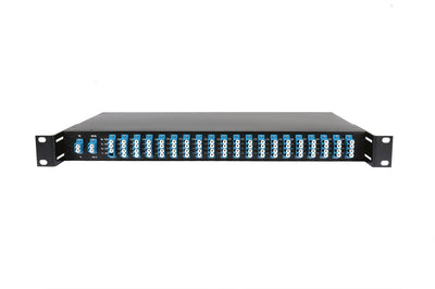 "16CH DWDM MUX+DEMUX in 19""Rack, with Monitor Port and 1310nm Upgrading Port"
