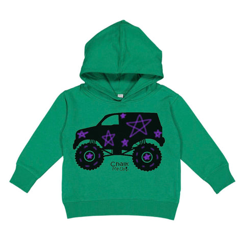 Toddler Truck Hoodie w/6 Pack Box Chalk