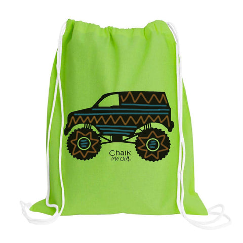 Truck Drawstring Backpack w/6 pack box chalk