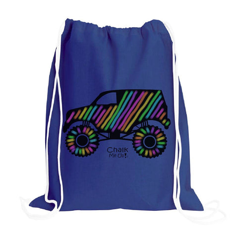 Truck Drawstring Backpack w/2 Chalk Markers