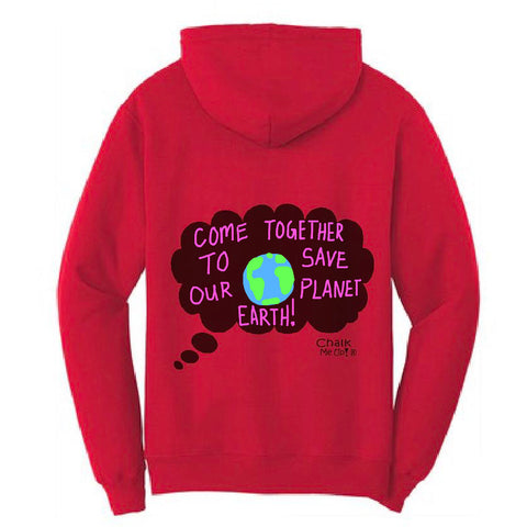 Adult Men's Speech Bubble Hoodie w/3 Chalk Markers