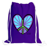 Heart Drawstring Backpack w/2 Chalk Markers