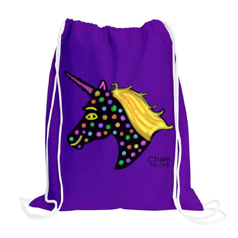 Unicorn Drawstring Backpack w/2 Chalk Markers