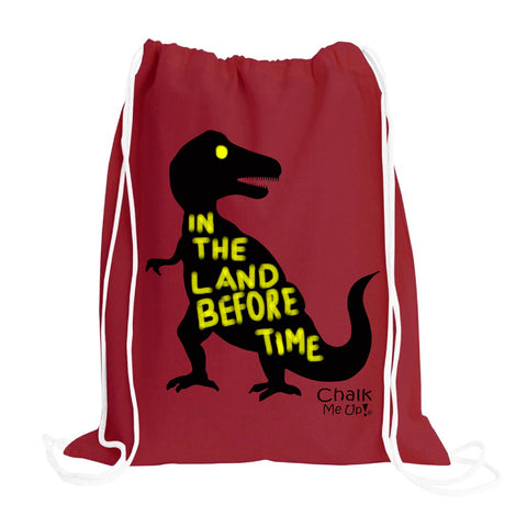 Toddler TREX drawstring backpack w/6 Pack Chalk