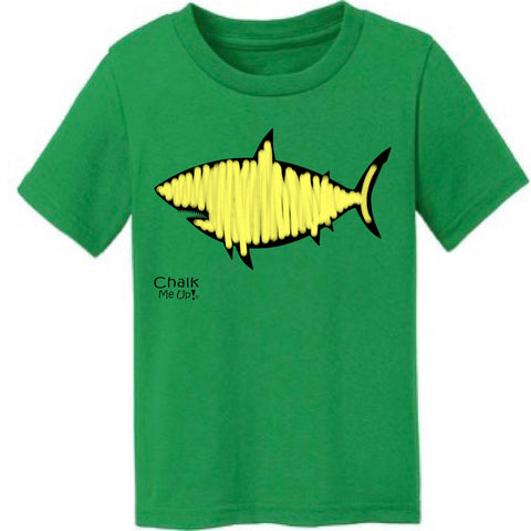 Toddler Shark Tshirt w/6 Pack Chalk