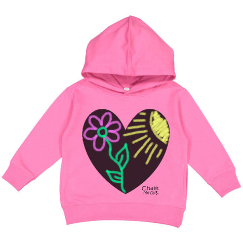 Toddler Heart Hoodie w/6 Pack Chalk