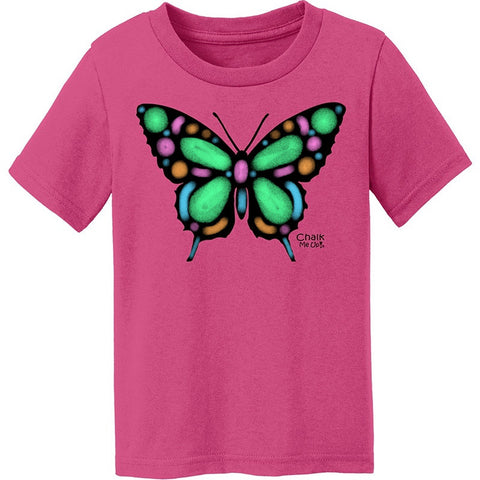 Toddler Butterfly T-Shirt w/6 Pack Chalk