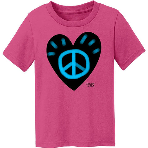 Toddler Heart T-Shirt w/6 Pack Chalk