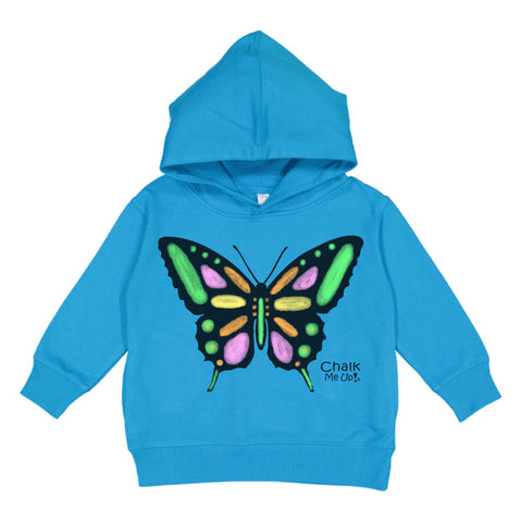Toddler Butterfly Hoodie w/6 Pack Chalk