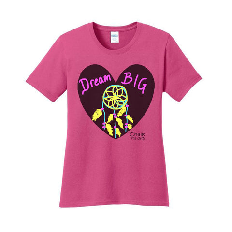 Adult Women's Heart T-shirt w/ 3-Pack Chalk Markers