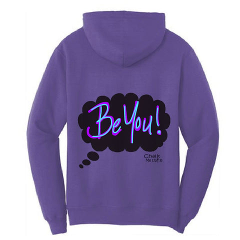 Adult Women's Speech Bubble Hoodie w/3-Pack Chalk Markers