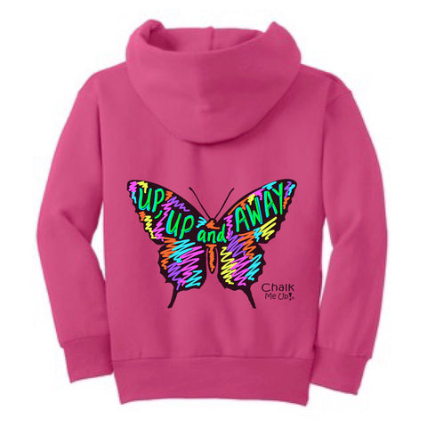 Youth Butterfly Hoodie w/3 Chalk Markers