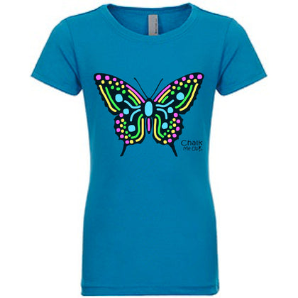 Youth Butterfly T-Shirt w/3 Chalk Markers