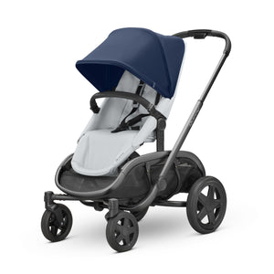 HUBB STROLLER - Navy on Grey
