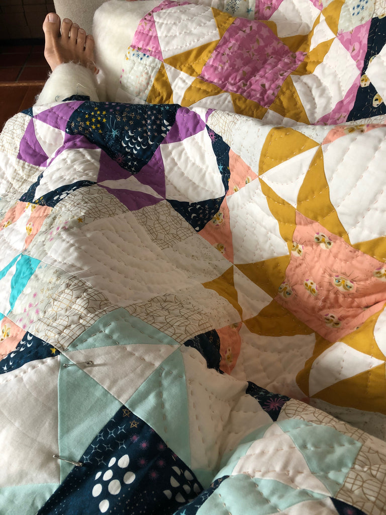 Hand Quilting Journey Home Quilt