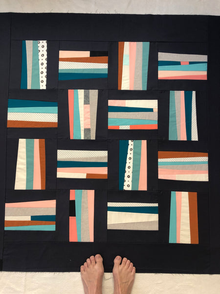 Guard Rails Quilt- dark background