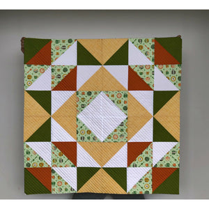 "Road Trip 2 Quilt- Charming, Retro, Modern Baby Quilt 100% Designer Cotton 36 x 36"" Baby Play Mat"