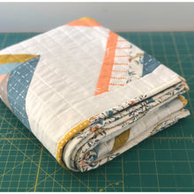Load image into Gallery viewer, Modern Handmade Crib Quilt- 100% Cotton  The Bodhi Quilt