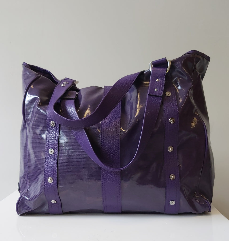 Mulberry Purple Roxanne Patent Tote Bag