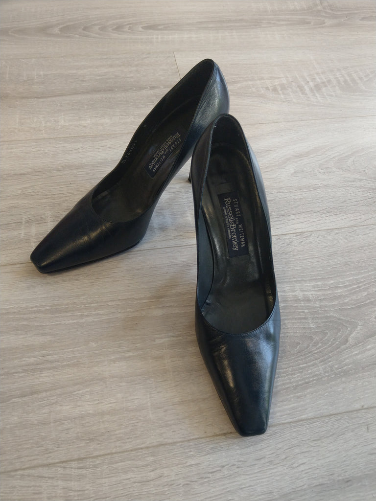 Bromley Navy Court Shoe Size