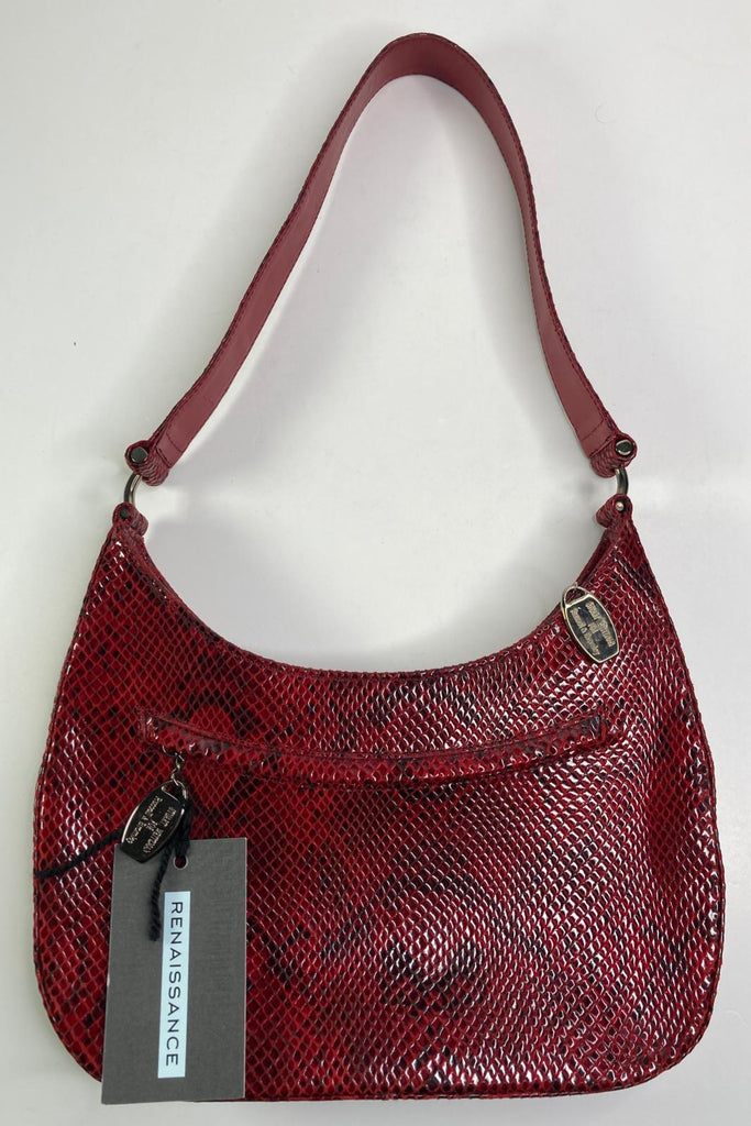 Russell and Bromley Red snake print bag