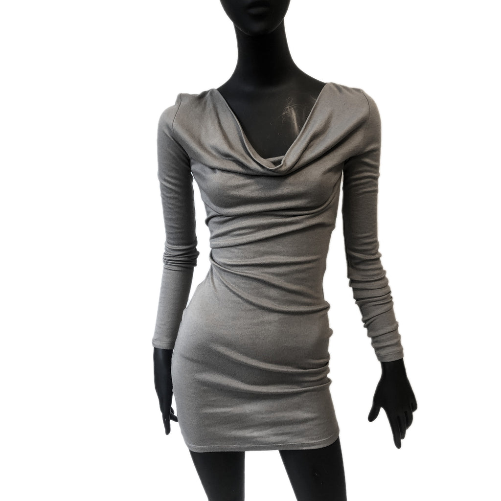 Pierre Balmain Cutout Taupe Bodycon Dress Size 8-10
