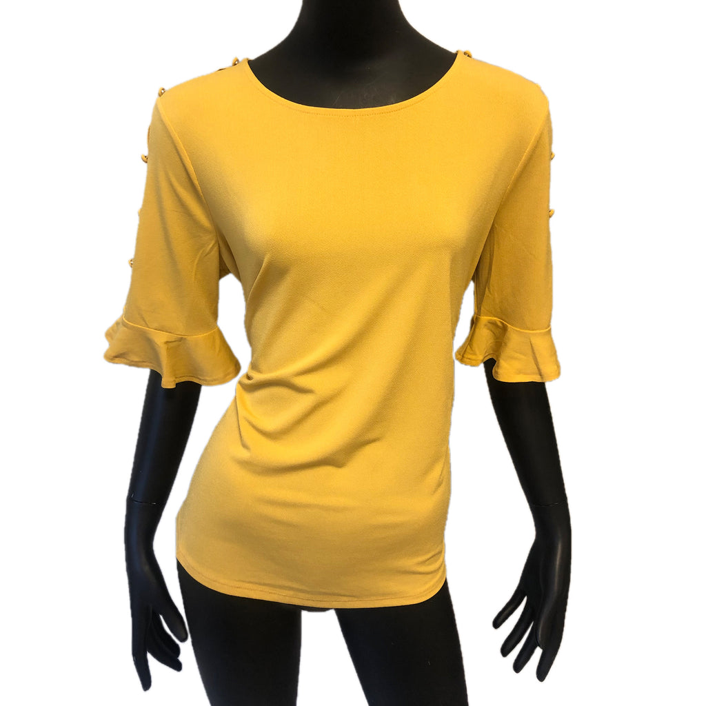 Adrianna Papell Yellow Top C