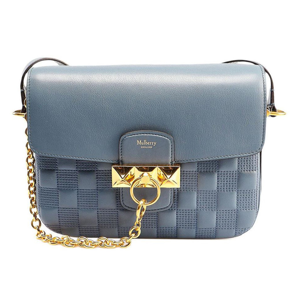 MULBERRY KEELEY QUILTED SHOULDER BAG - NIGHTFALL BLUE