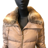 Michael Kors Quilted Fur Collar Coat C