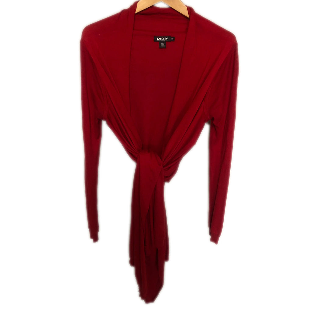 DKNY Knitted Red Cardigan Size Small C