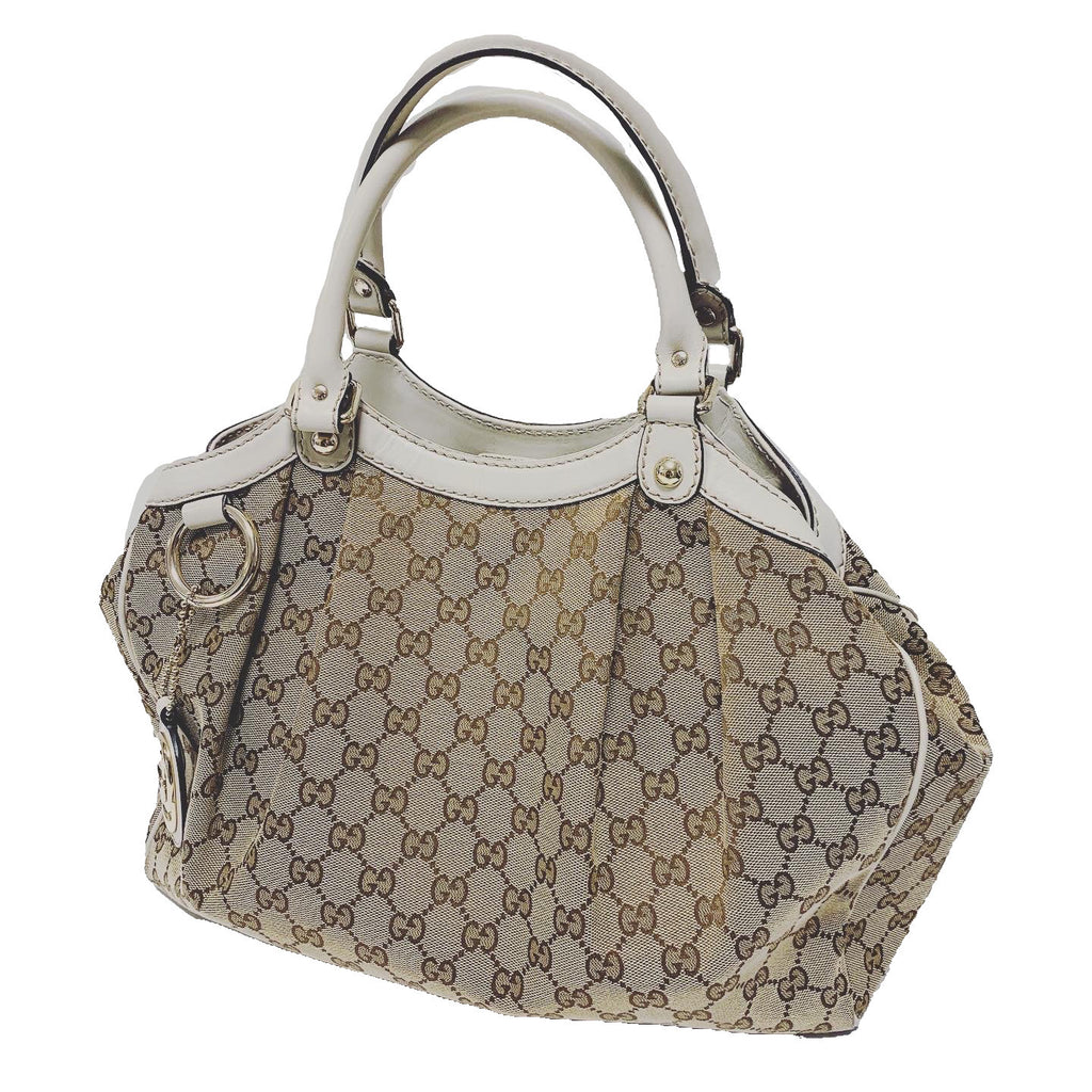 Gucci Medium Sukey Bag - Canvas & Leather