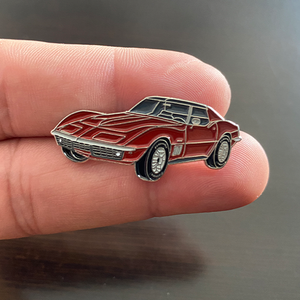 Corvette Enamel Pin