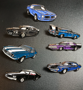 7 Muscle Car Enamel Pin Lot