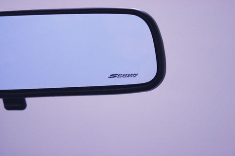 Blue Wide Rear View Mirror