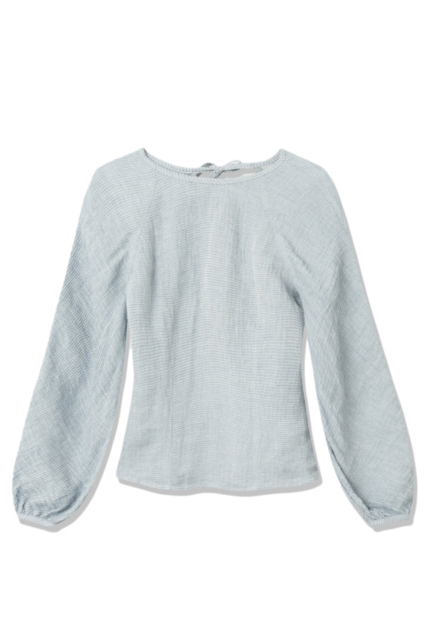Shop Wood Wood Magnolia textured blouse Skjorte Blå 2021 - ikkebutikk.no