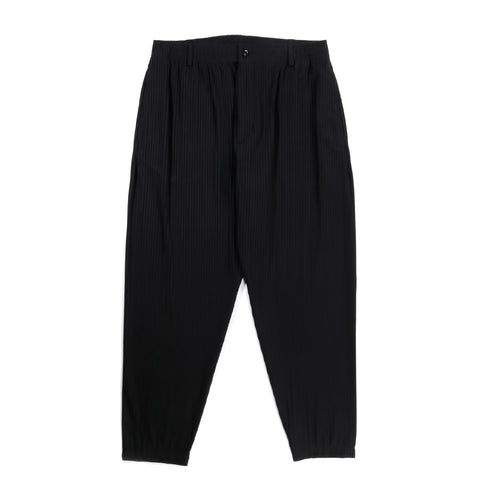 4SDESIGNS TAILORED ELASTIC PANT ALBINI BLACK PLISSE JACQUARD