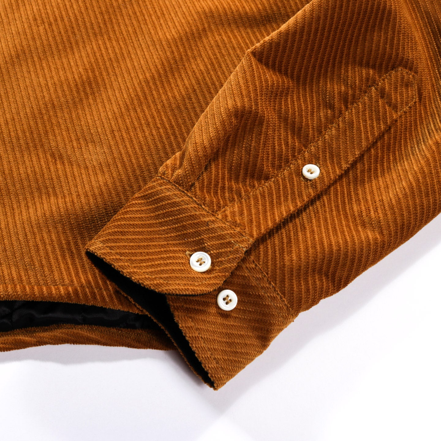 4SDESIGNS QUILTED BD SHIRT CHESTNUT DIAGONAL CORDUROY
