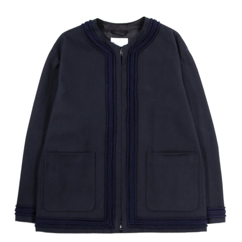 4SDESIGNS CARDIGAN COAT NAVY HEAVY TWILL