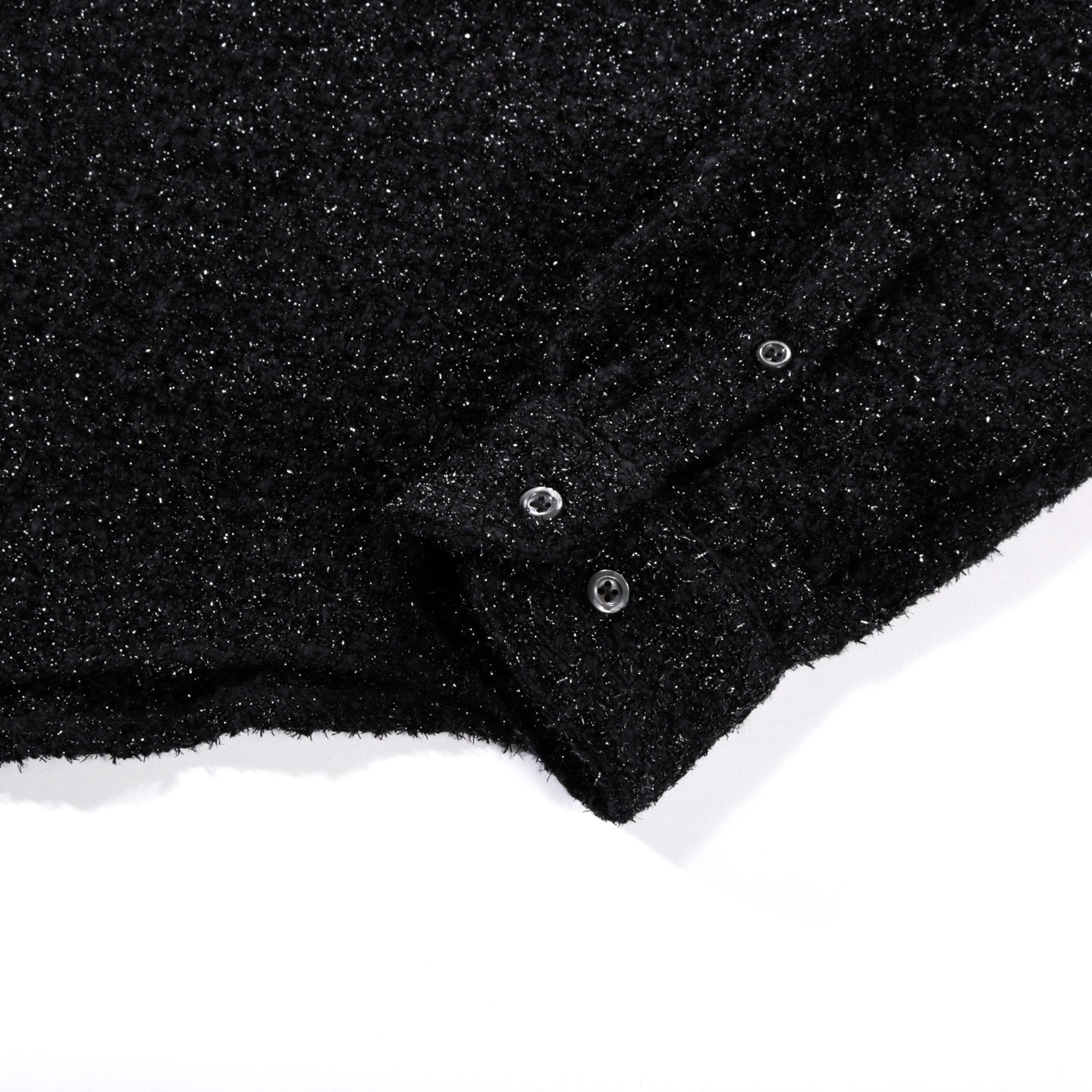 4SDESIGNS BD OVER SHIRT BLACK TWEED