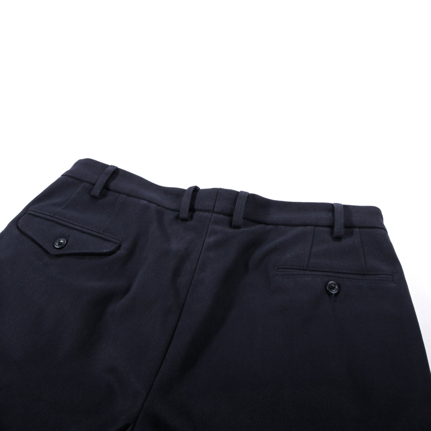 4SDESIGNS TRIPLE PLEAT PANT NAVY HEAVY TWILL