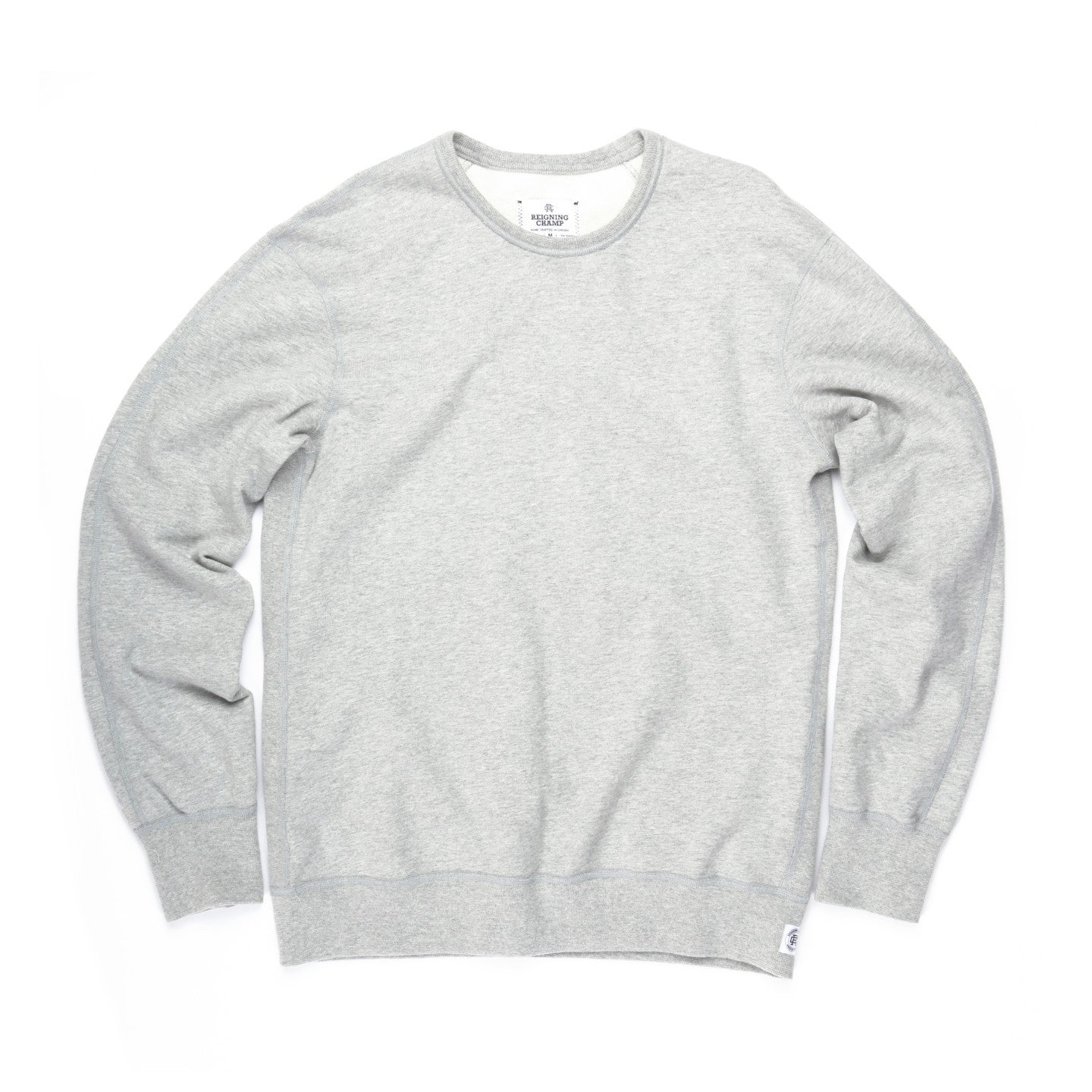 REIGNING CHAMP MIDWEIGHT TERRY CREWNECK HEATHER GREY