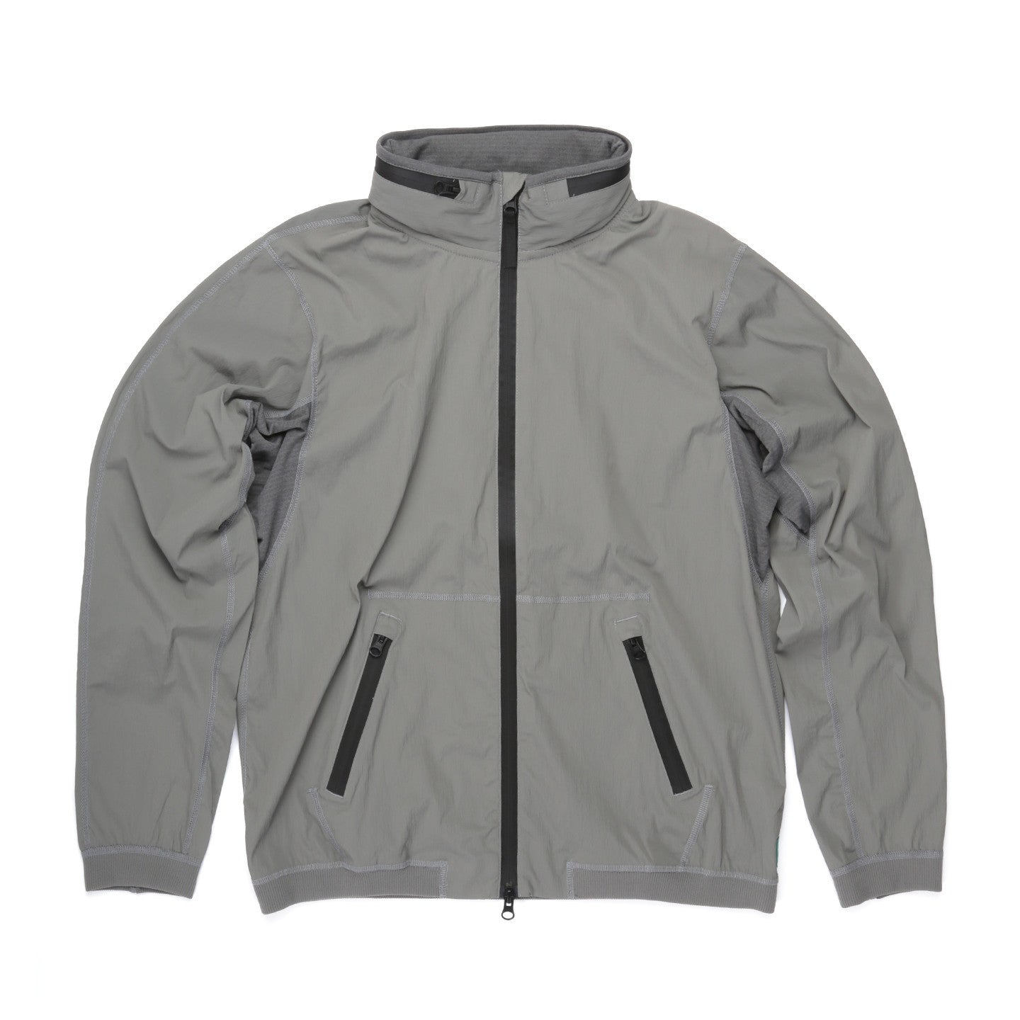REIGNING CHAMP STRETCH NYLON STOW AWAY JACKET STONE